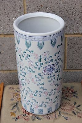 An Oriental Blue and White Ceramic Stick Stand