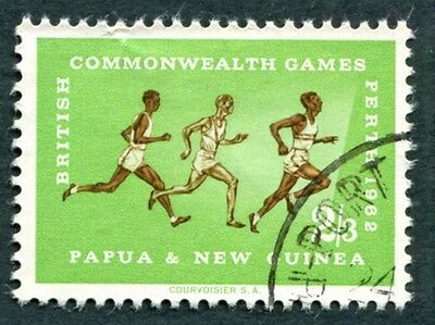 PAPUA NEW GUINEA 1962 2s3d SG41 used NG British Empire & Commonwealth Games #W9
