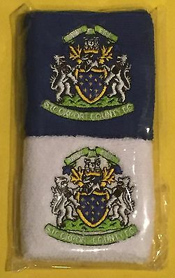 Pair Of Stockport County FC Wrist Sweatbands