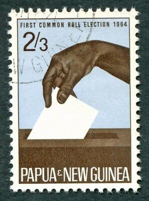 PAPUA NEW GUINEA 1964 2s3d SG51 used NG Common Roll Elections #W9