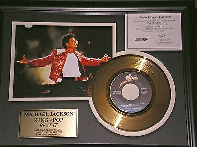 "Michael Jackson's  ""beat It""  Gold Record!"