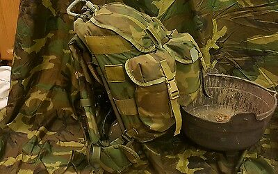 modified US army woodland ALICE pack jungle bergen daysack with frame