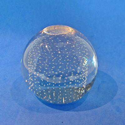Vintage Crystal Ball with controlled air bubbles in it  Paperweight Home Decor