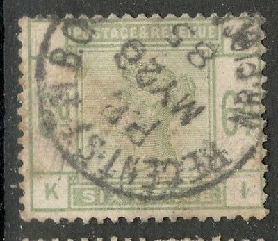 Queen Victoria - SG 194 - 6d Dull Green - Used (£250) - Good Cancel
