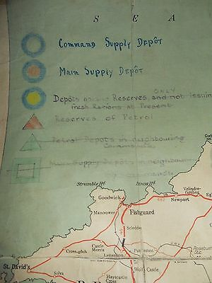 Geographica Fabric Backed Touring Map Midlands Annotated with WWII Supply Depots