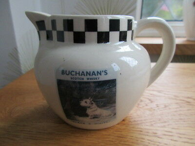 Collectable Buchanans  Black And White Whisky Water Jug Unused