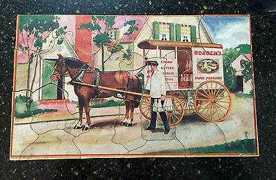 Vintage 1930s Advertising Jigsaw Puzzle Borden's Milk