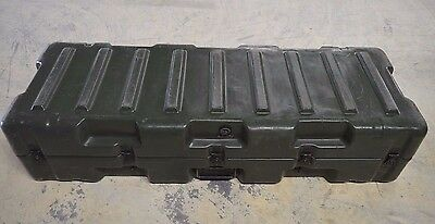 Pelican Hardigg Military Case, Single Hinged lid green