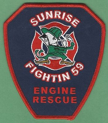 Sunrise Florida Station 59 Company Fire Rescue Patch