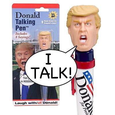Donald Talking Pen - 8 Different Sayings - Trump's REAL VOICE - Click & Listen