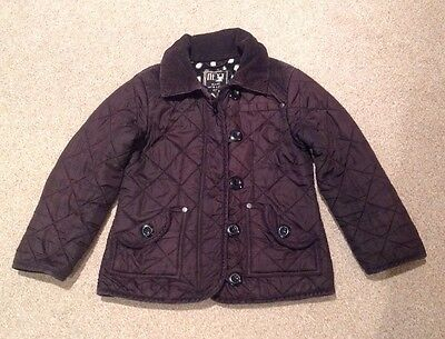 Girls NEXT Black quilted Jacket.  Age 5-6 Yrs