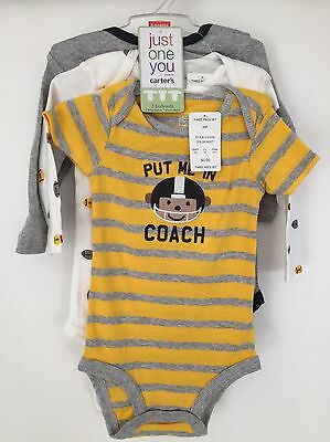 CC. Carters Three Bodysuits Vests Baby Boy 6 Months