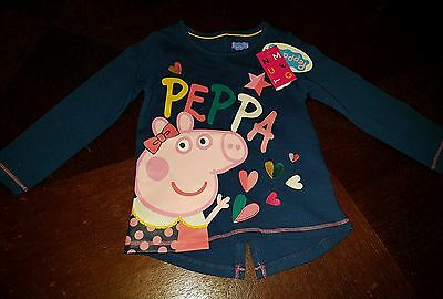 girls peppa pid 18-24 months long sleeved top spring clothes bnwt next day