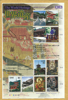 Japan, Souvenir Sheet Issued For World Heritage 2001 Mnh