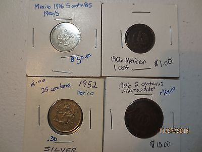 6  piece lot collection Norway coins vintage with silver 1904 1902 1931 1946