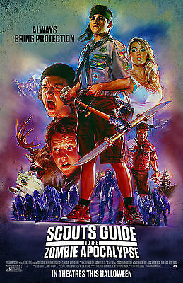 "Scout's Guide to the Zombie Apocalypse:Movie 27""x40"" HI-RES POSTER VINYL BANNER"