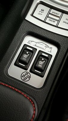 Toyota GT86 heated seat silver badge 86 logo, emblem, centre console