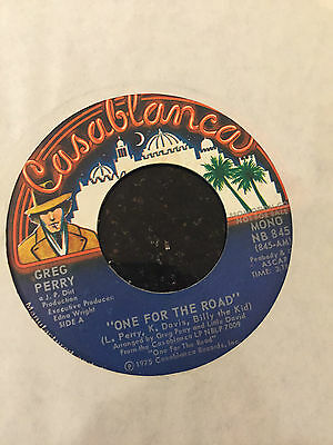 70s Modern Soul - GREG PERY - ONE FOR THE ROAD - 45RPM