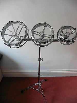 Set of 3 Roto Toms with Stand