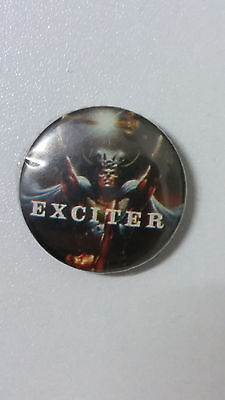 Exciter long live the loud heavy metal band music button vintage SMALL BUTTON
