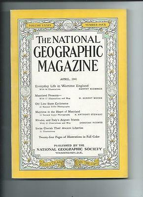 April 1941  National Geographic Magazine-Coca-Cola Add On Back