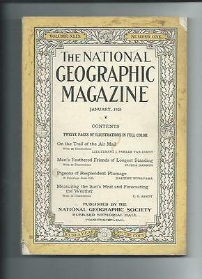 January 1926  National Geographic Magazine-Lots Of Adds And Information