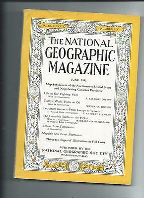 June 1941  National Geographic Magazine-Coca-Cola Add On Back-No Supplement
