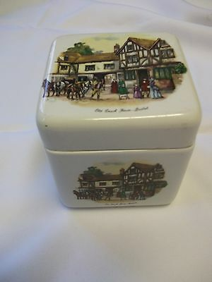 vintage Made in England for R.Twining&Co...coach house's pictures tea caddy
