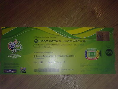 Ticket England - Portugal 2006 WORLD CUP game #59