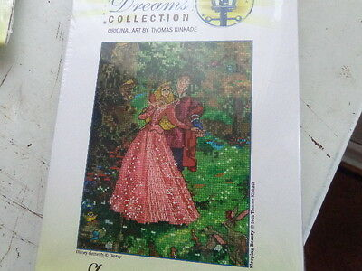 the dreams collection disney sleeping beauty cross stich kit 5x7inches uk seller