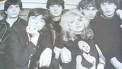 Debbie Harry Blondie B&W Band Image 23 x 15cm Ideal to Frame Classic Rock