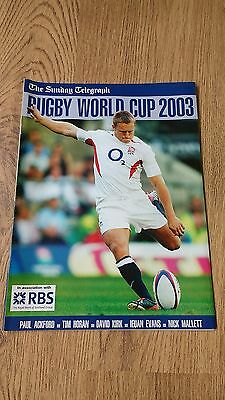 Sunday Telegraph 2003 Rugby World Cup Supplement