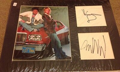 STARSKY and HUTCH -  WILSON STILLER - SIGNED CARDS - MATTED + PHOTO - UACC  COA