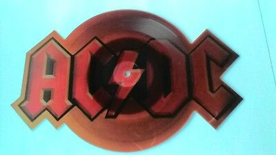 "7"" Ac/dc "" Guns For Hire "" Logo Shaped Orange Picture Disc"