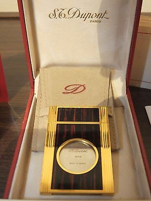 ST Dupont Gold Plated Cigar Cutter Coated with a Chinese Lacquer Boxed