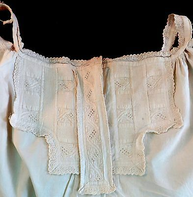 ANTIQUE Victorian EDWARDIAN Ladies CHEMISE Woman's CORSET COVER Yoke