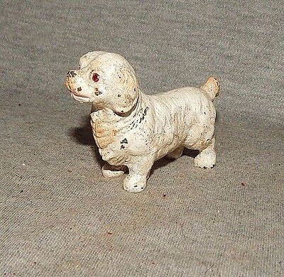 KING PRINCE CHARLES SPANIEL DOG CAST IRON PAPERWEIGHT FIGURINE Hand Painted