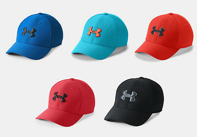 Under Armour UA Boys Blitzing II Stretch Fit Cap - Navy, Red or Black