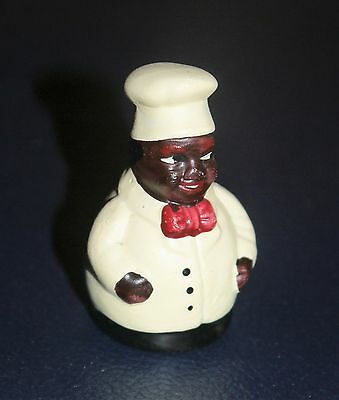 Vintage African American Chef Porcelain Thimble