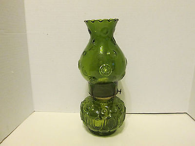 Vintage LE Smith Moon & Stars Green Oil Lamp NEW UNUSED Condition NEW Wick HTF