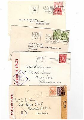 Australia 1940/58 Group of Commercial Covers               ( 4 Covers )
