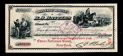 1913 Banking House of R.S. Battles Check