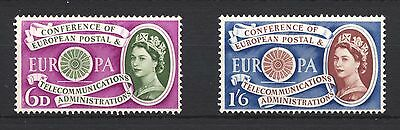 1960 SG621-622 6d-1s6d Europa First Anniversary Set (2) Mounted Mint hinged