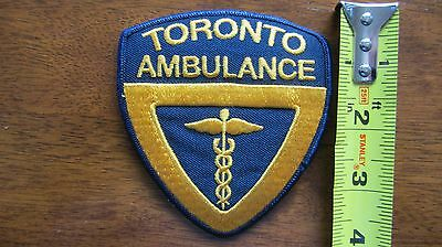 Toronto Ambulance Patch Ems Paramedic Acp Pcp Emt Ontario Ont Canada Canadian