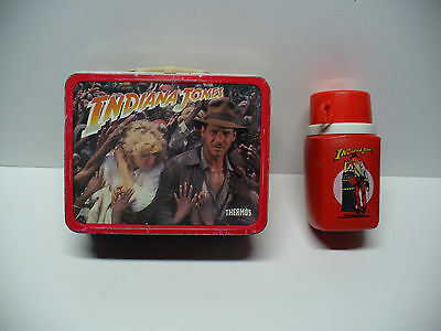 1984 Indiana Jones Metal Lunchbox with Thermos