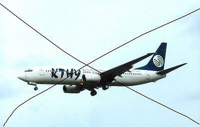Civil Aircraft Photo, Cyprus Turkish Photograph Of A Boeing 737 Plane Picture.