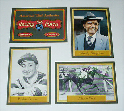 Daily Racing Form, 4 Card Promo Set, Sealed, Horse Racing, See Pics
