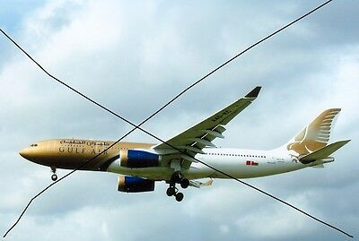 Civil Aircraft Photo,gulf Air Photograph,airbus A330 Airliner Plane Picture.