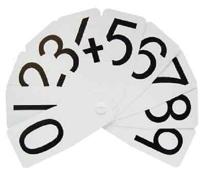 Plastic Number Fan double figures from 0 - 10