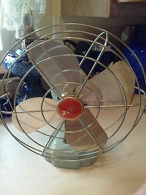 Vintage Cute Mid Century Osculating Zero Table Fan, Mcgraw-Edison Co.